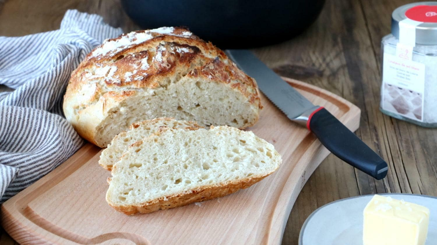 Easy No-Knead Bread Recipe - Peugeot Saveurs